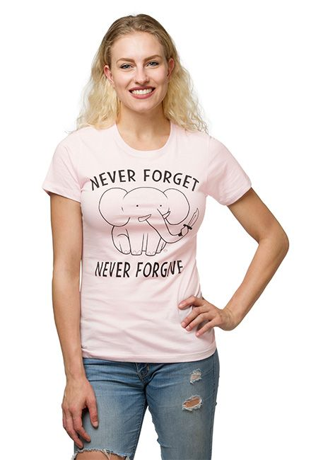Never Forget Never Forgive Ladies' T-Shirt
