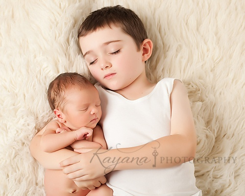 Newborn and Sibling Image