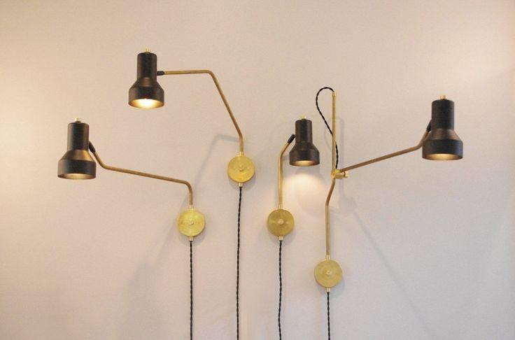 THE Brass Step Swivel Lamp Swing ARM Lamp Vintage Industrial Style Scissor…