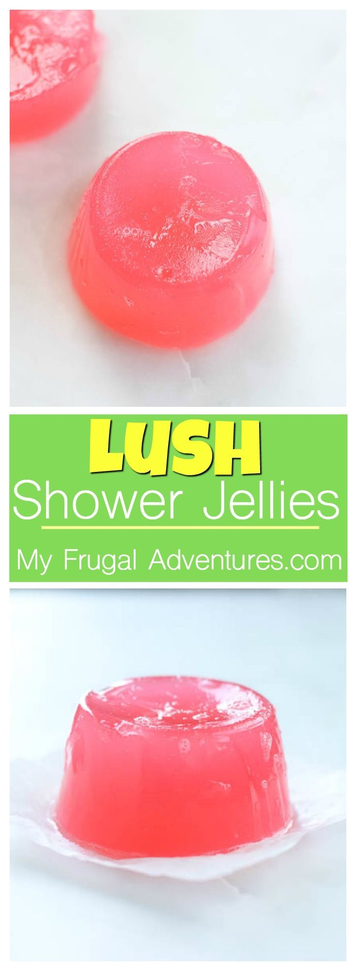 Homemade Bath jellies- just like Lush!  Such a fun homemade gift idea.
