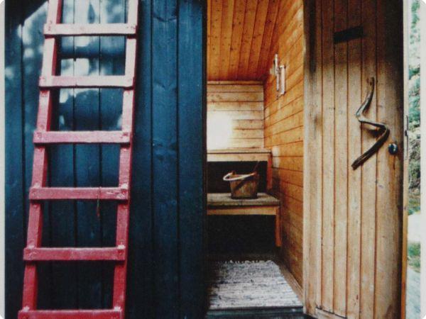 Tight knot cedar interior + sloped roof