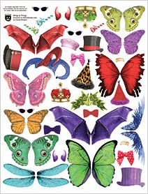 Wings & Things Collage Sheet