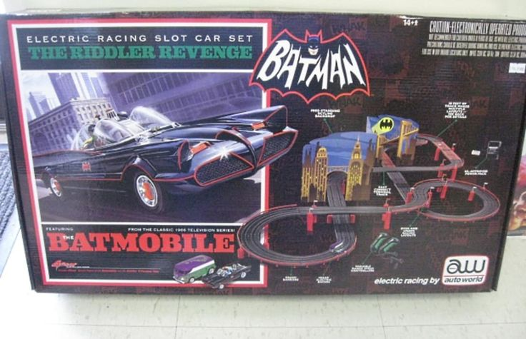 AMT Batman Electric Slot Car Racing Set - The Riddler's Revenge - The Complete History of the Batmobile | Complex