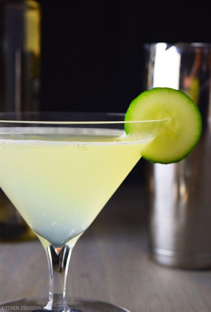 Cucumber, Gin, and Elderflower Martini Recipe