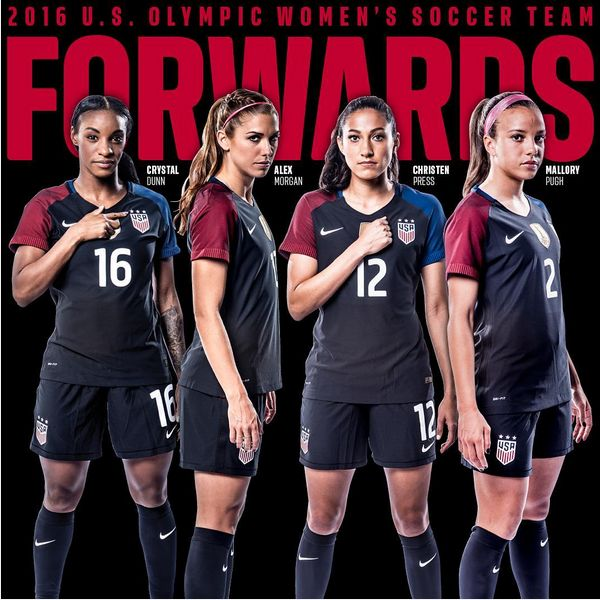 Forwards. 2016 Olympic team. (U.S. Soccer)