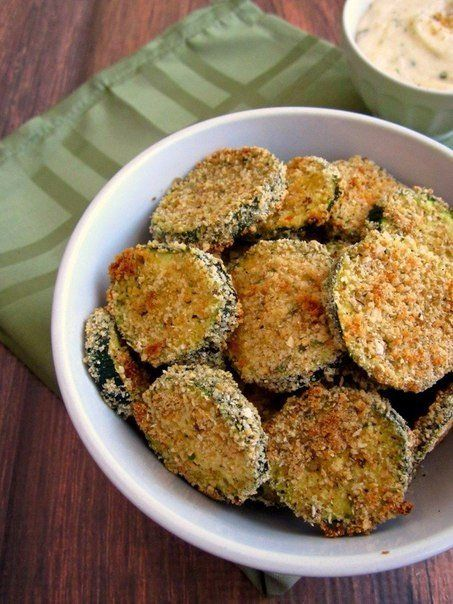 Chips from courgettes —   00f the calories