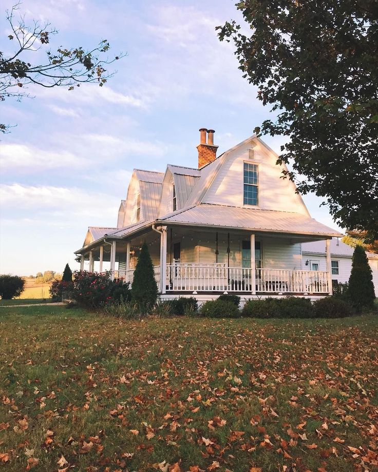 "3,213 Likes, 52 Comments - sarah / our vintage farmhouse (@ourvintagefarmhouse) on Instagram: ""the leaves are starting to fall!  #farmhouse #fall"""