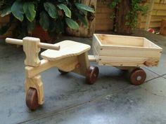 Wooden riding toy