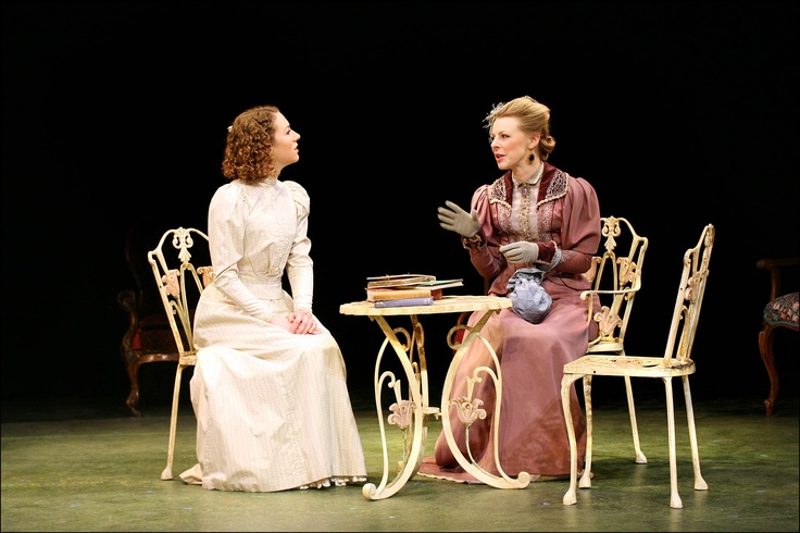 Felicity Houlbrooke as Cecily Cardew, Helen Keeley as Gwendolen Fairfax