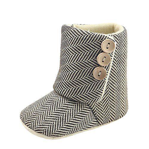 Kukul Botas de bebés Niñas Otoño / Invierno Botas de Nieve - Zapatos Para niñas 0-18 Meses (6-12 meses, Beige)