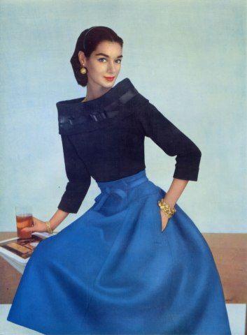 Jean Patou 1955 Evening Gown