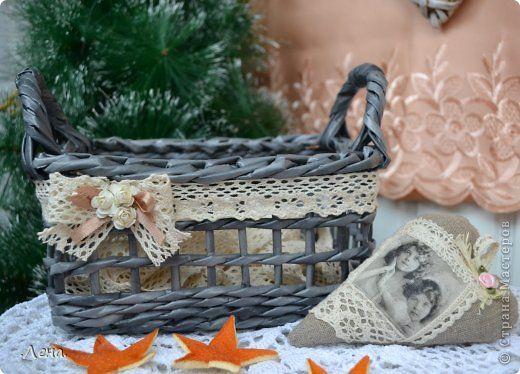 Поделка изделие Плетение Плетушки  Трубочки бумажные фото 1