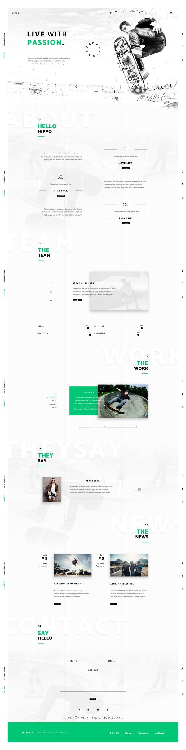 Hippo is a creative #PSD template for #webdev business agencies website download now➩ https://themeforest.net/item/hippo-creative-agency-psd-template/19506975?ref=Datasata
