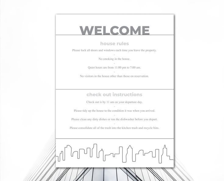 Airbnb Printables | Vacation Rental House Rules | Airbnb ...