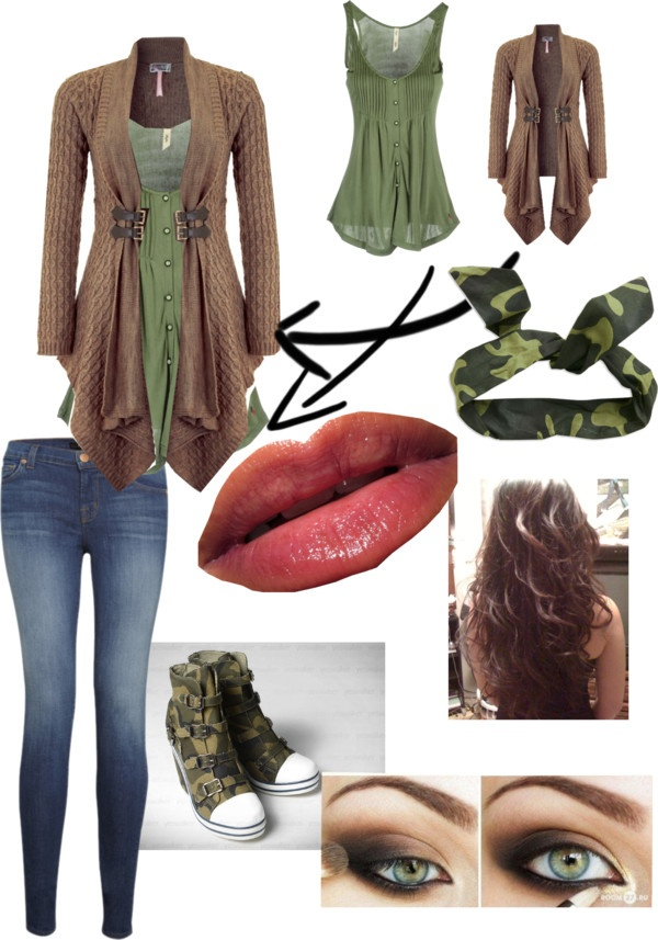 """Urban Camoflauge"" by allicyn-texeira ❤ liked on Polyvore Love that sweater!!!"