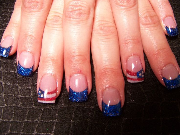 July 4 Nail Design | Health & Beauty » nail art - American Flag nailtips