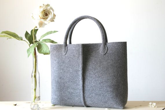 Elegant and Casual Felt Bag from Italy, Tote Bag, Felted bag, Market Bag, Felt Tote, Everyday Tote, Handmade bag,