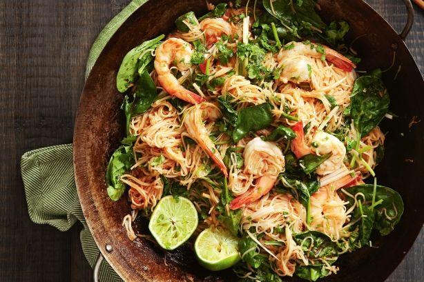 Singapore-style chilli prawn noddles | Recipes | Pinterest