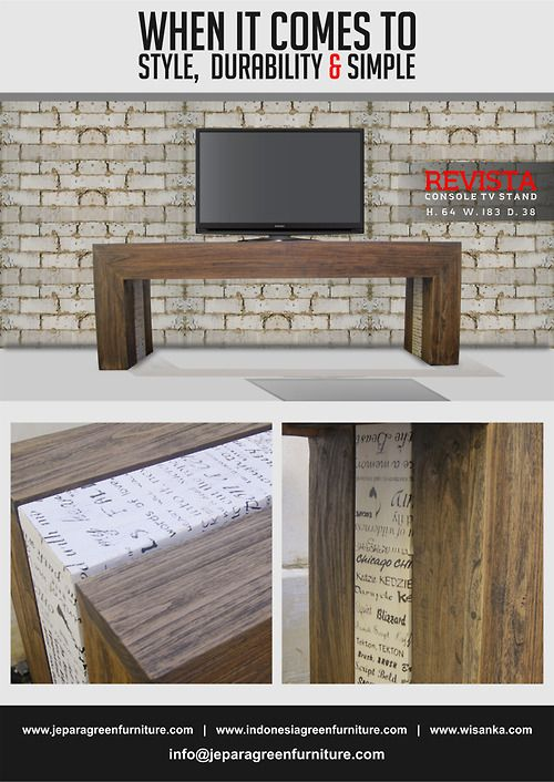 Newsletter of New Arrival December 2014 Revista Console TV Stand Style, durable, and simply design