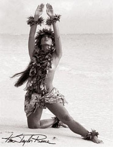 "Kim Taylor Reece ""Kilakila"" 11 X 14 Double Matted Hawaiian Hula Print"