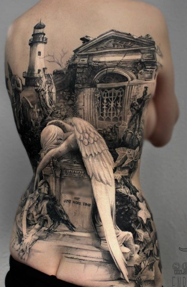 100 Awesome Back Tattoo Ideas | Art and Design