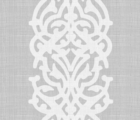arabesque_linen_gray fabric by chicca_besso on Spoonflower - custom fabric