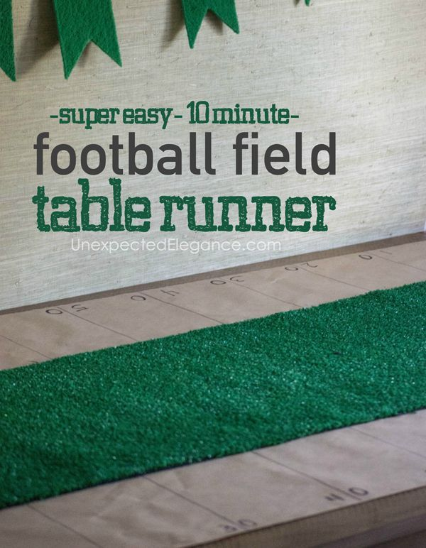 17 best images about football ideas on pinterest for 10 minute table runner placemats