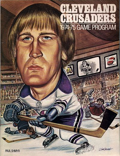 Cleveland Crusaders Game Program featuring Paul Shmyr