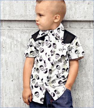 Knuckleheads, Rockabilly Plaid Skulls Button Shirt