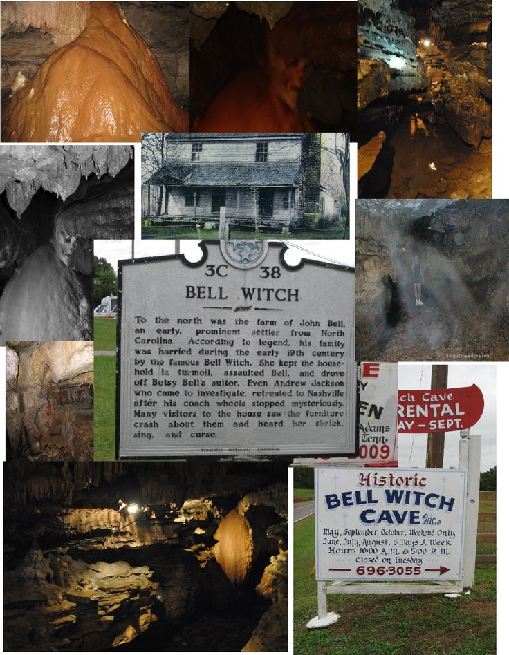 The Bell Witch Cave is a karst cave located in Adams, Tennessee near where the Bell Farm once stood.  When I was growing up, we would scare each other with tales of the Bell Witch.