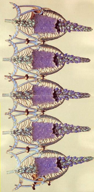 Lalique 'Speedwells' Bracelet 1900-02: enamel/ glass/ gold: signed 'Lalique' on the fastener: museo.gulbenkian.pt