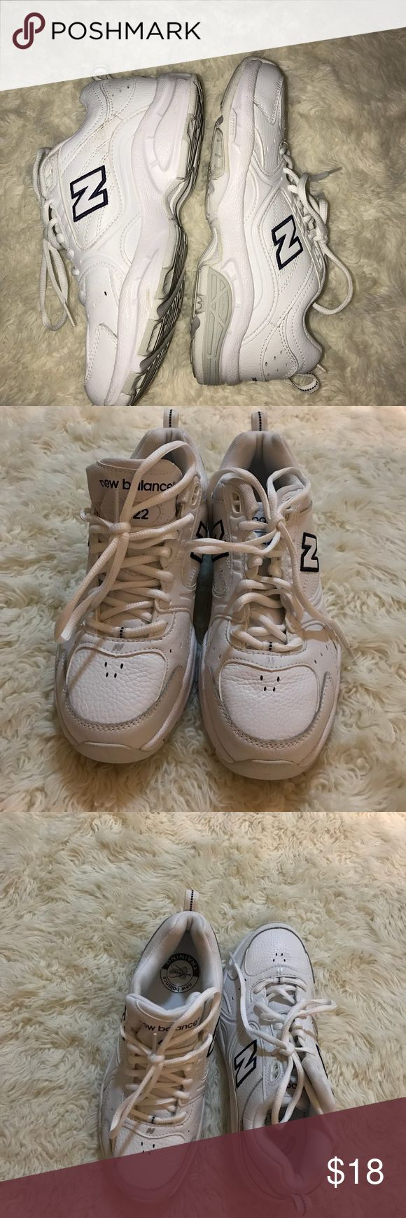 Woman's New Balance gym shoes Rarely worn woman's new balance white gym shoes style 622 size 7.5 New Balance Shoes Athletic Shoes