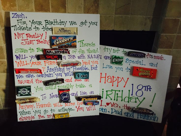 This was a candy poster I made for my sons 18th birthday