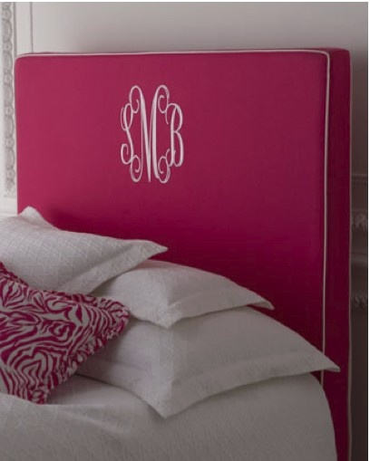 Monogram...cute idea for children and college dorm