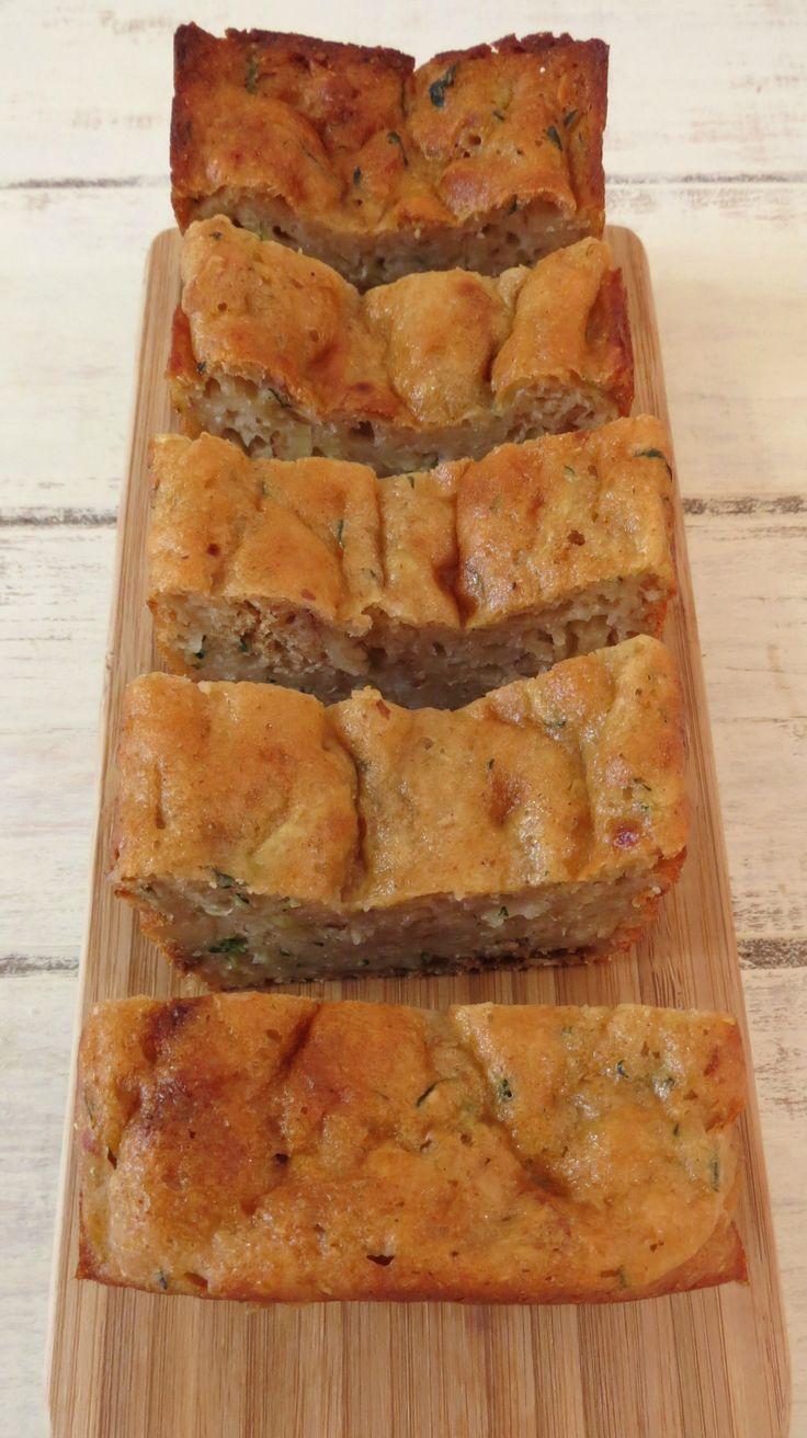 Zucchini Almond Bread - A sweet, moist, healthy quick bread made with yogurt, zucchini and almonds.