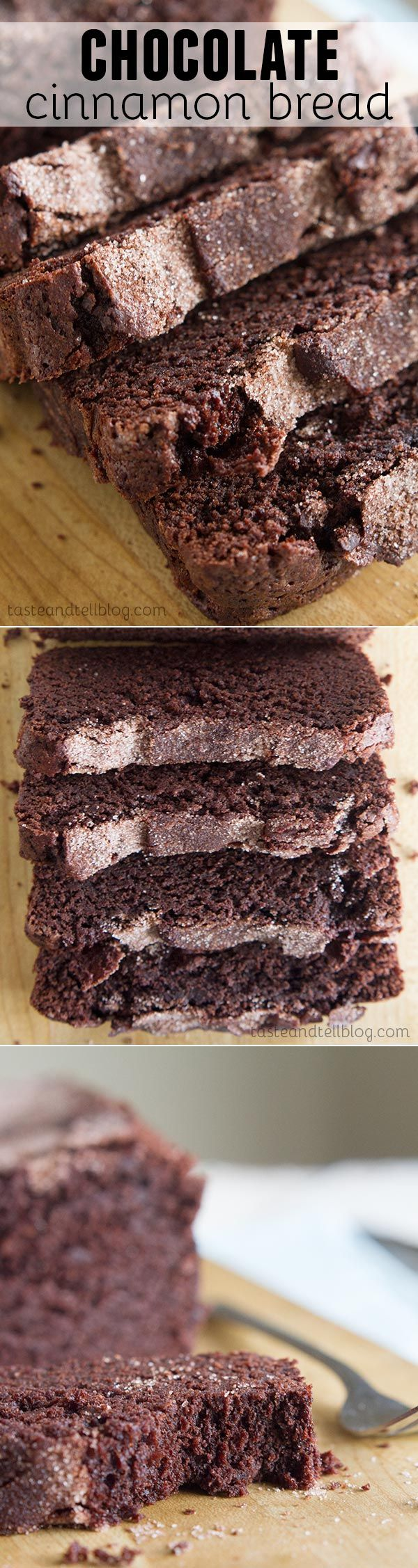 Chocolate Cinnamon Bread - A rich chocolate bread with a hint of cinnamon that is topped with a cinnamon sugar crunchy topping.