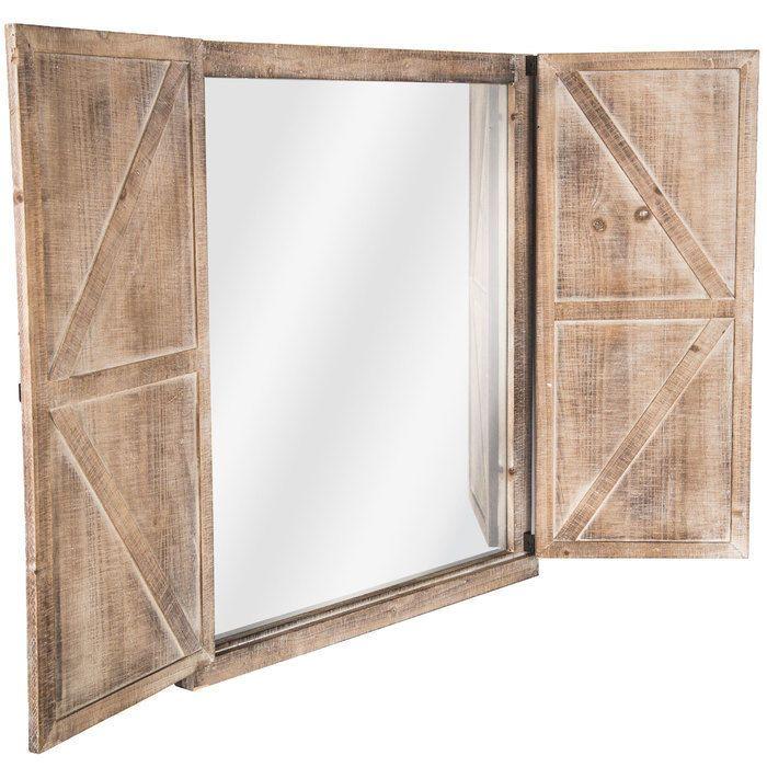 Large Country Wood Wall Mirror Farmhouse Barn Door Bathroom Bedroom Vanity Piece Theneedfulthings Farmhouse Wood Wall Mirror Barnwood Doors Mirror Wall