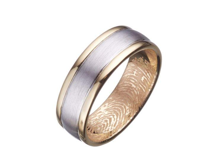 Unique Finger print Wedding Ring