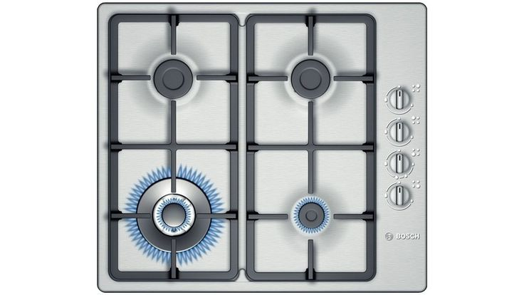 Bosch 60cm 4 Burner Gas Cooktop - Stainless Steel