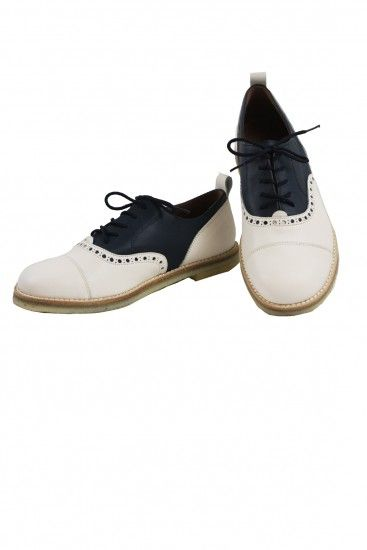 Navy & Cream Saddle Shoes by PePe | Little Skye Winter 2016