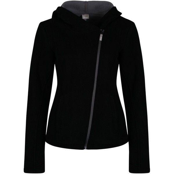 Bench Individualistic Hoodie ($86) ❤ liked on Polyvore featuring tops, hoodies, black, women, sweatshirt hoodies, bench top, zip hoodies, hoodie top and zipper hoodie