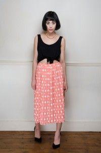 Retro pleated midi polka dot skirt - Skirts - Womens Vintage   Retro & Vintage Clothes UK