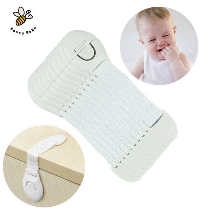 10 Stks/partij Kinderen Bescherming Lock kinderen Veiligheid Locking Deuren Kastladen Baby Veiligheid Plastic Lock Kinderen Castles