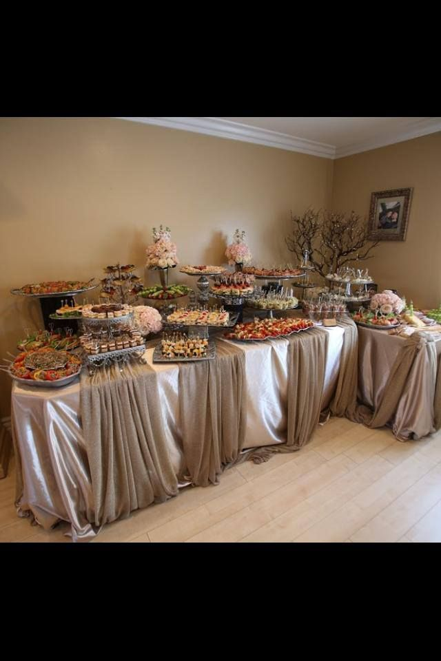 Wedding buffet table decorating ideas woodworking for Decorating ideas for buffet tables