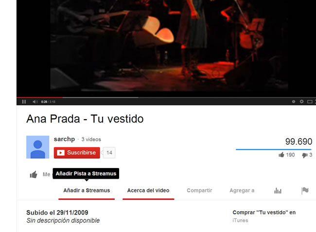 Streamus: Para escuchar tus temas favoritos y tener la música de Youtube siempre a mano [Chrome]