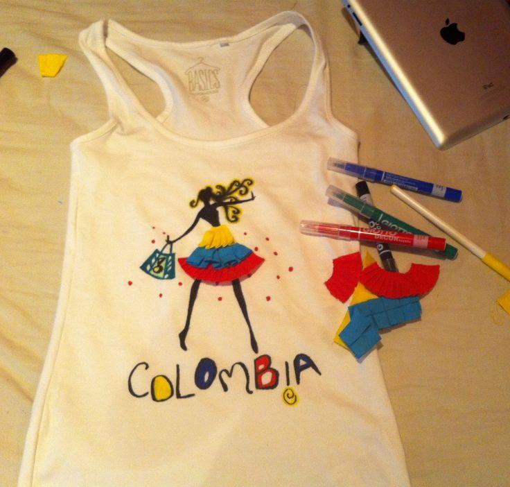 #colombia #camiseta #bandera #patria #amarillo #azul #rojo #mundial #artesanal