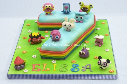 Moshi Monsters  Cake by TheChainLaneCakeCo