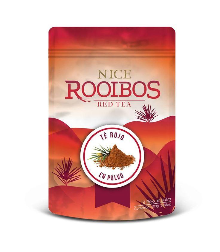 NICE Rooibos Red Tea proviene de Sudáfrica. Durante años, el té rojo Rooibos se ha usado para ayudar a combatir malestares digestivos y dérmicos; además puede ser inductor de sueño reparador, ayuda a optimizar la circulación asi como a proteger el sistema nervioso. Puede tomarse frío o caliente. #TEA #Rooibos #redtea