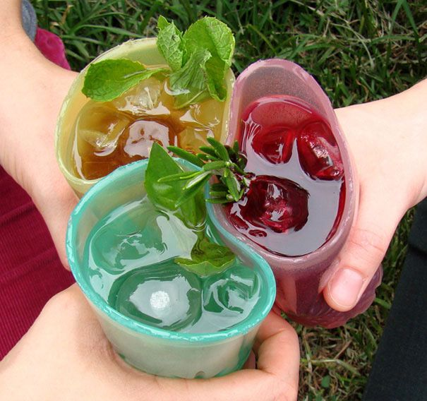 Edible Jello Cups >> this would be so fun for kids. Who are you kidding? This isn't for kids as much as it is for college students.