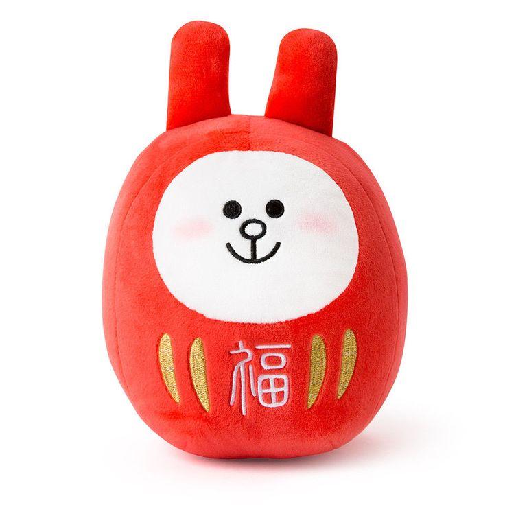 LINE FRIENDS Character CONY Daruma Doll Dharma JAPAN ORIGINAL Official Goods #LINEFRIENDS